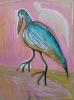 vogel op roze goed 50 x 65 cm